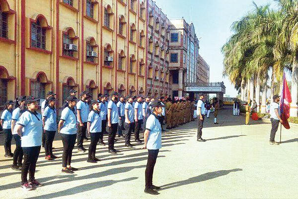 Parade by NSS Volunteers on Independence Day